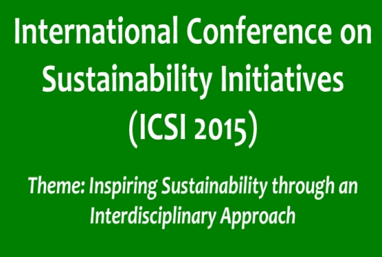 International Conference on Sustainability Initiatives (ICSI) in conjunction with 8th ASEAN Environmental Engineering Conference