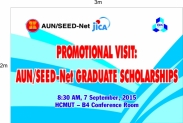Buổi giới thiệu và tư vấn các chương trình học bổng thuộc dự án AUN/SEED-Net năm 2015